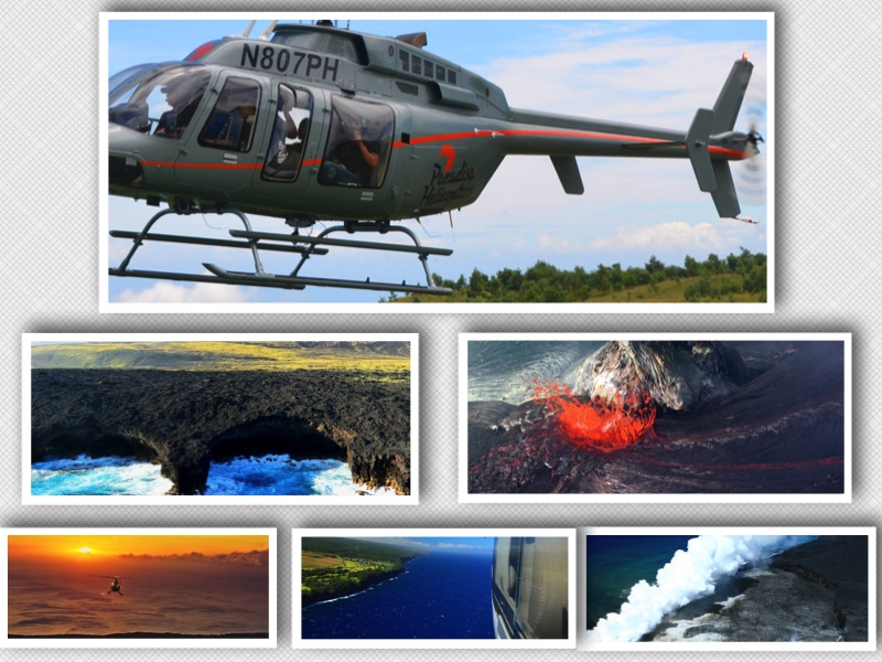 paradise helicopters collage